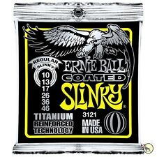 Ernie Ball 3121 Coated Electric Titanium RPS Regular Slinky Guitar Strings 10-46