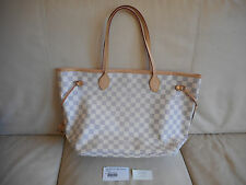 NWT AUTHENTIC LOUIS VUITTON DAMIER AZUR NEVERFULL MM HANDBAG