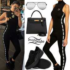 Authentic Limited Edition Puma Black High Neck Jumpsuit XSmall UK Size 8 Celeb