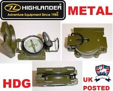 HIGHLANDER METAL MILITARY FORCES LENSATIC COMPASS SAS SCOUT CUB CADET HIKE ARMY