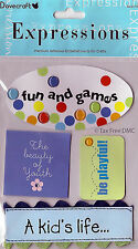VAT Free Dovecraft Adhesive Expressions Embellishments A Kids Life Fun Games New