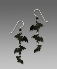 Sienna Sky Triple BATS EARRINGS STERLING Silver Halloween Fall Dangle - Boxed