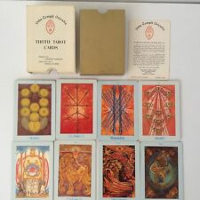 """Thoth Tarot Cards by Aleister Crowley  Samuel Weiser """"White Box B"""" Edition 1969"""