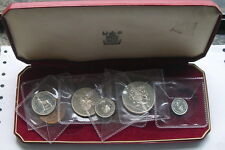 Rhodesia Nyasaland 1955 Proof Mint Box Set of 7 Coins,With 5 Silver Coins,Rare!