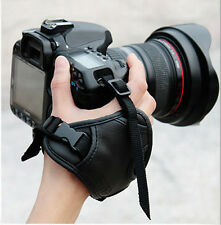 Genuine Leather DSLR SLR Camera Hand Grip Wrist Strap For Canon Nikon Sony Leica