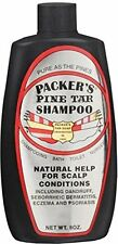 Packers Pine Tar Shampoo Natural Help for Scalp Conditions 8 oz Each