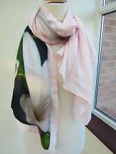 NEW !!TED BAKER  Floral Split Long Scarf  Pink - VERY PRETTY!! slight second