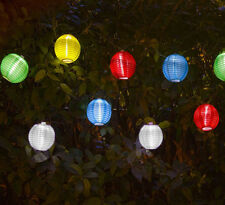 10PC SOLAR MINI CHINESE LANTERN SET FAIRY LIGHTS GARDEN OUTDOOR HANGING PATIO