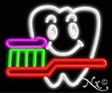 BRAND NEW DENTIST LOGO 18x15x3 REAL NEON SIGN 12223