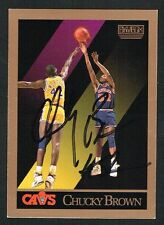 Chucky Brown #49 signed autograph 1990-91 SkyBox Basketball Trading Card