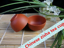 4pcs Chinese yixing Zisha tea set cup red stoneware marked teacup on sales gift