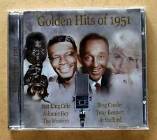 Various Artists - Golden Hits of 1951, CD. Nat King Cole, Johnny Ray...