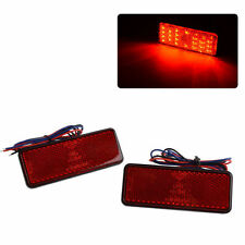 2x LED Reflector Rear Tail Brake Stop Marker Light Red Truck Trailer RV