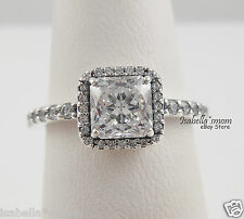 TIMELESS ELEGANCE Genuine PANDORA Silver/Clear CZ Stone COCKTAIL Ring 9 (60) NEW