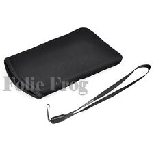 Black Protective Soft Case Cover Carry Pouch Sleeve Bag + Strap For Nintendo 3DS