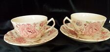Set OF 2 ROSE CHINTZ -- JOHNSON BROS --CUP & SAUCER -- VINTAGE