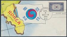 "#921 ""5¢ KOREA"" ON MAE WEIGAND HAND PAINTED CACHET COVER BS2332"