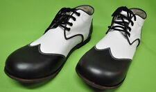 ZYKO Professional Real Leather Clown Shoes Chaplin model  Black/white (ZH033)