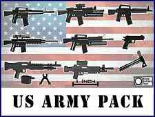"US Army Guns Lot Scale 2"" Custom Weapons pack compatible with LEGO® Minifigure"