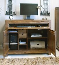 Linea solid walnut home furniture hideaway hidden home office PC computer desk