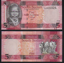 South Sudan 5 Pounds 2015, Pick 6b Mint Unc