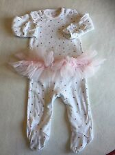 Baby Girls Clothes 0-3 Months - Pretty Next Babygrow Outfit -