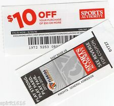 Sports Authority $10 Off Coupon Off $50 Purchase - Expires 6/30/16