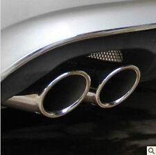 VW GOLF 6 VI 2008-2015 CHROME EXHAUST TIPS TAIL PIPE MUFFLER TDI TSI TFSI 70mm