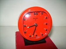 Retro Swiza Quality Swiss 8 Day Windup Alarm Clock With Original Box Working.