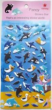 Love Cute Sea Animal Vinyl Sticker Whale Dolphin Shark Bird Fish Scrapbook JAPAN