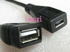 Micro USB 5pin female to USB A 2.0 Female Data Adapter Cable Converter cord 26cm