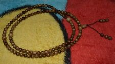 Real Agarwood 108 Bead Meditation Prayer 8 MM Aquilaria Japa Mala Aloeswood#tbc1