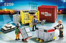 * Playmobil * airport/train/docks / Envío * Carga De Carga Equipo (5259) * BNIB