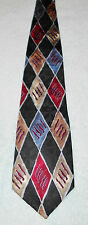 TOWNCRAFT ART DECO DIAMONDS NECK TIE  FREE SHIPPING  BLACK RED BLUE GOLD GRAY