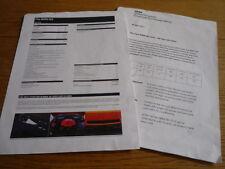 "BMW M3 GTS CORPORATE BULLETIN "" BROCHURE ""  jm"