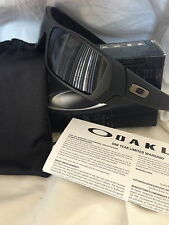 BRAND NEW OAKLEY GASCAN SUNGLASSES 03-473 MATTE BLACK GRAY FREE USA SHIPPING