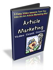 ARTICLE MARKETING Video Crash Course - Learn The Basics - 5 Lessons (On CD-ROM)
