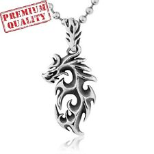 Vintage Dragon Totem Titanium Stainless Steel Men's Pendant with Necklace