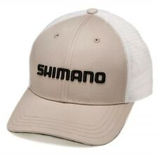 Shimano• Smokey Trucker Cap Adjustable Fishing Hat Stone--Free Shipping