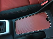 2014 - 15 Honda Civic SI RED Cup Holder Cover Carbon Fiber Pattern Cupholder FB6