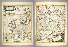 Coronelli 1692 Parte Occidentale Dell' Europa Original 2 sheet map of Europe