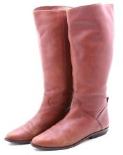 White Mountain Womens Boots Size 6.5 Knee High Dress Genuine Brown Leather low