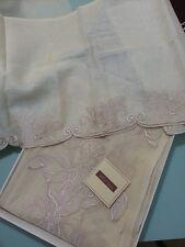 DALI' BISSO TELO CLASSICO tessuto stoffa tenda scampolo mantovana LINO ricamato