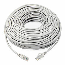 50m Meter Cat 5e RJ45 Ethernet Network Patch WHITE Lead Internet Cable Cat5e