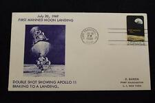 SPACE COVER 1969 MACHINE CANCEL APOLLO 11 LANDS ON THE MOON SARZIN COVER (577)