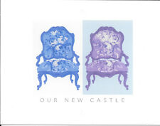 New Home Address Note Cards - Chairs - Our New Castle - By Hallmark - Set of 16
