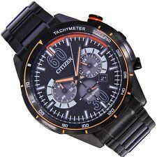 Citizen Eco Drive Cronografo Orologio Da Uomo 100m ca4125-56e NERO METAL UK Venditore