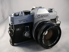 Canon Ftb QL 35mm SLR Film Camera Body with 50mm f1.8 FD + booklet
