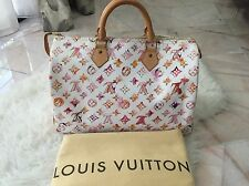 AUTHENTIC LOUIS VUITTON WATERCOLOR SPEEDY 35 IN EXCELLENT CONDITION!