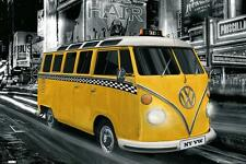VW Camper : New York Taxi - Maxi Poster 61cm x 91.5cm (new & sealed)
